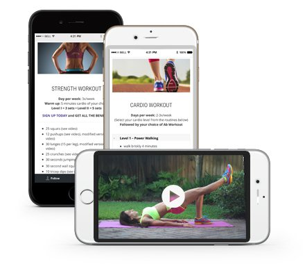 The Fit Ninja workouts on your smartphone