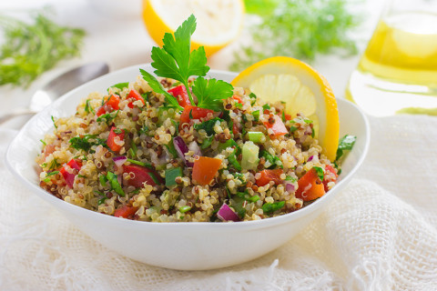 Quinoa Salad with Cilantro/Red Onion/Red Bell Peppers